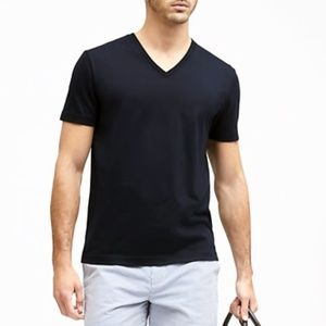 BANANA REPUBLIC MENS PIMA COTTON V-NECK T-SHIRT
